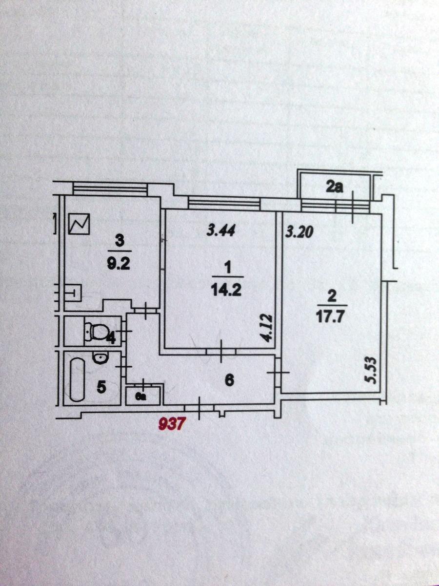 Предлагается двухкомнатная квартира по адресу мелитопольская.